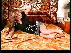 Amateur russian teen poses on cam and..