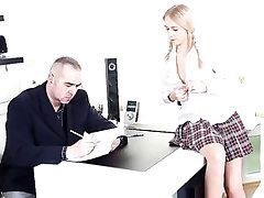 Horny college girl seduces her teacher..